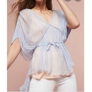 Anthropologie Floreat Olia gauzy chiffon blouse
